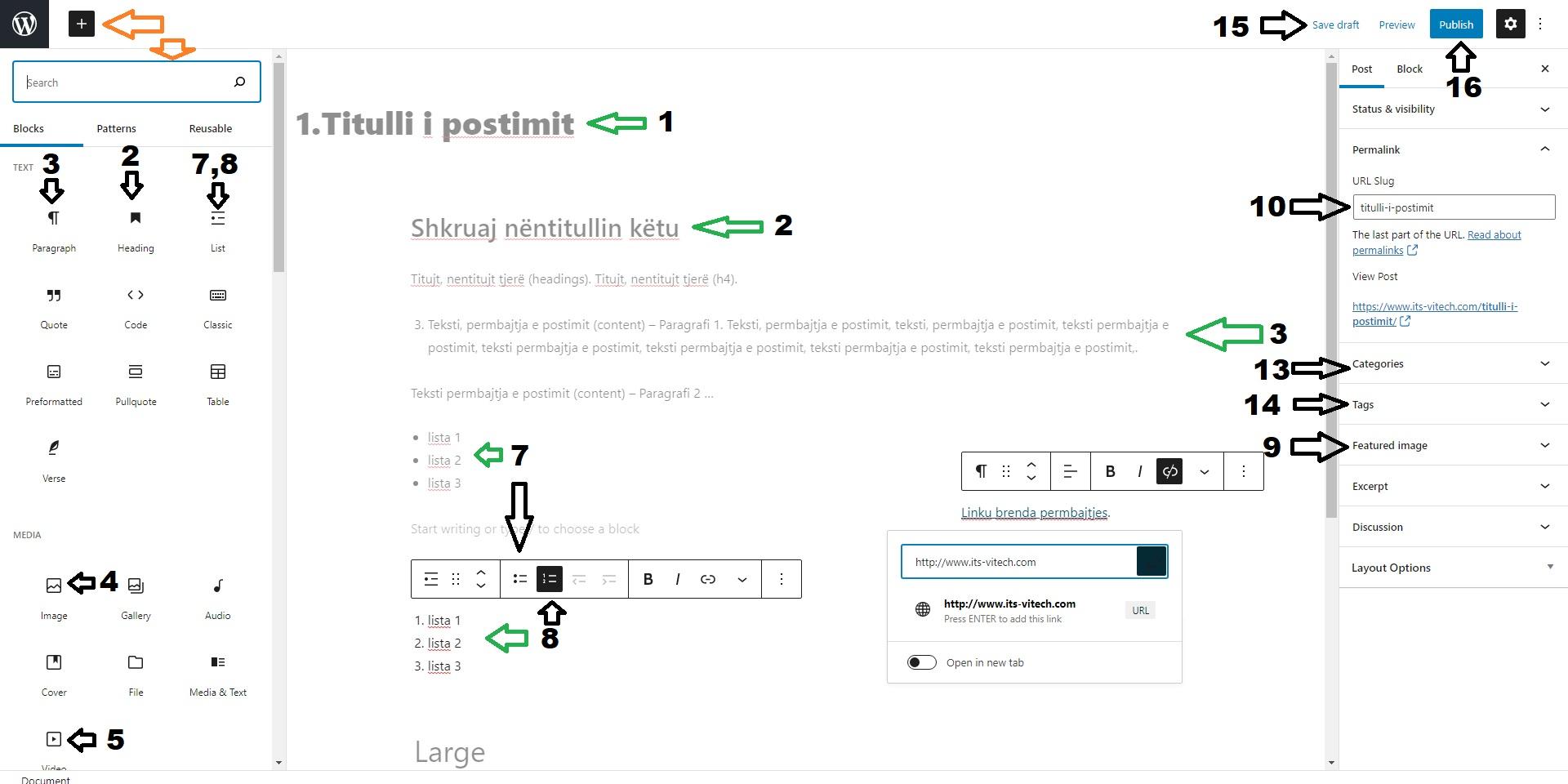 Wordpress Block Editorposting